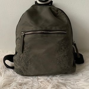Mossimo Forest Green Embroidered Small Backpack